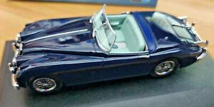 Jaguar-XK150-Roadstar-Indigo-Blu-Scala-1-43-Die-Cast-Oxford-43XK150009-Nuova