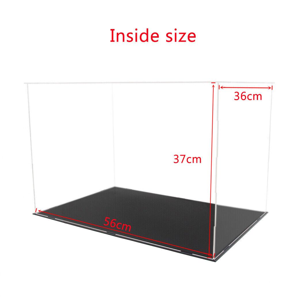 56cm L Acrylic Plastic Display Box grand Perspex  Case Self-Assembly Dustproof  magnifique