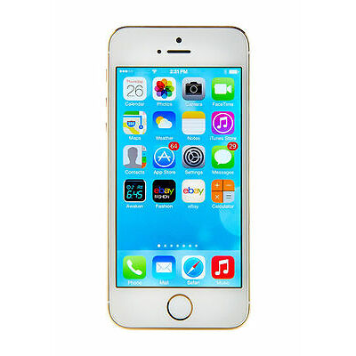 New Factory Unlocked Apple iphone 5S Gold 64GB phone with $98GIFT+1yr.Warranty