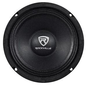 "Rockville RM64PRO 6.5"" 4 Ohm Mid-Bass Midrange Car Speaker, 105dB 200w"