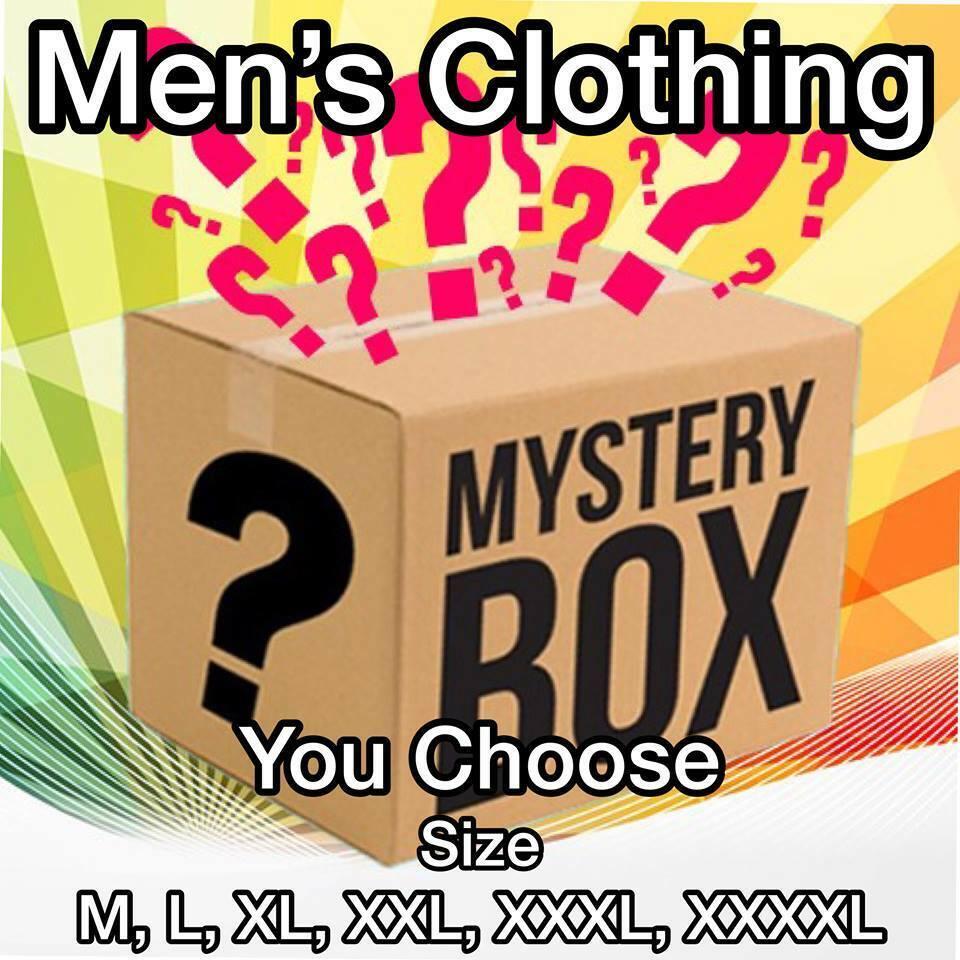 Clothing Surprise Lot of Men's Clothing 11+ items + Value M L XL XXL XXXL