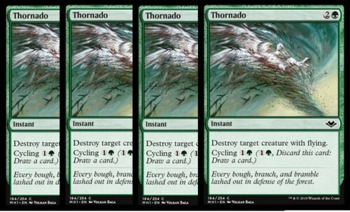 4x Thornado NM Modern Horizons MTG Green Common