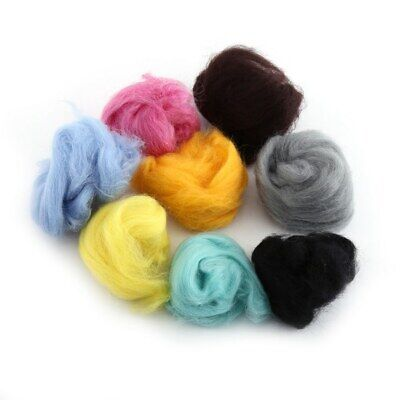 Set of 36 Colors Wool Fibre Yarn Roving for Needle Felting Hand Spinning New
