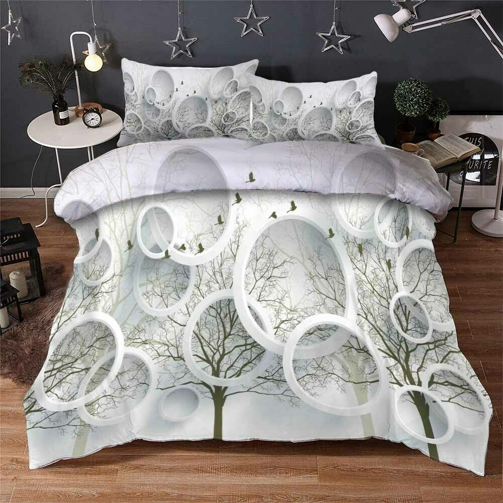 Dry grau Branches 3D Printing Duvet Quilt Doona Covers Pillow Case Bedding Sets