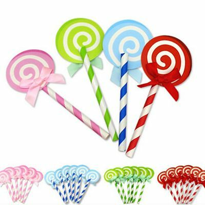 6pcs Party Paper Decoration Lollipop Wedding Birthday Cake Inserted Card