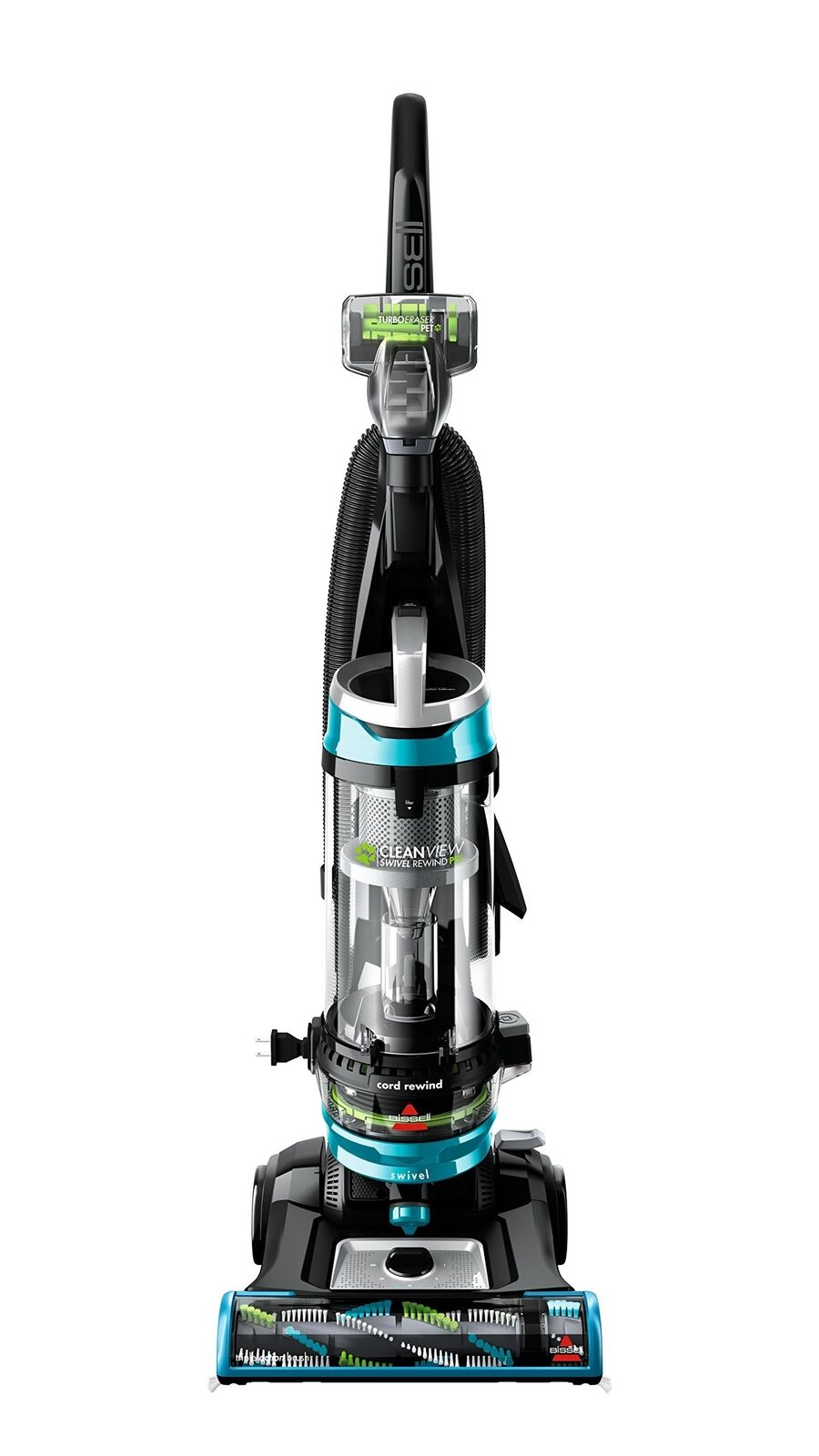 BISSELL Cleanview Swivel Rewind Pet Upright Bagless Vacuum Cleaner Teal