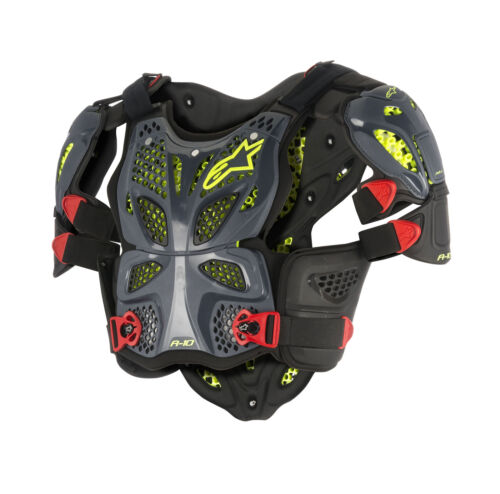 Alpinestars MX A-10 Full Chest//Back Protector Roost Guard Black//Red//Yellow