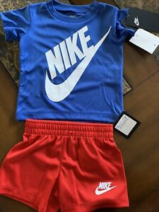 Nike Baby Boys Graphic T-Shirt and Shorts 2-Piece Set