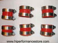 Alfa Romeo Gtv6 Silicone Plenum Intake Coupler Kit W/clamps Red