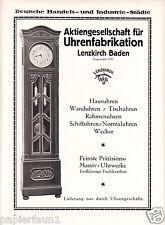 AG Uhrenfabrikation Lenzkirch XL Reklame 1921 Uhr Standuhr Uhrwerk Werbung clock
