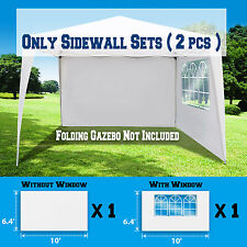 10'x 10' EZ Pop Up Sidepanels Canopy Tent Gazebo Sidewalls Kit 2 WALLS ONLY