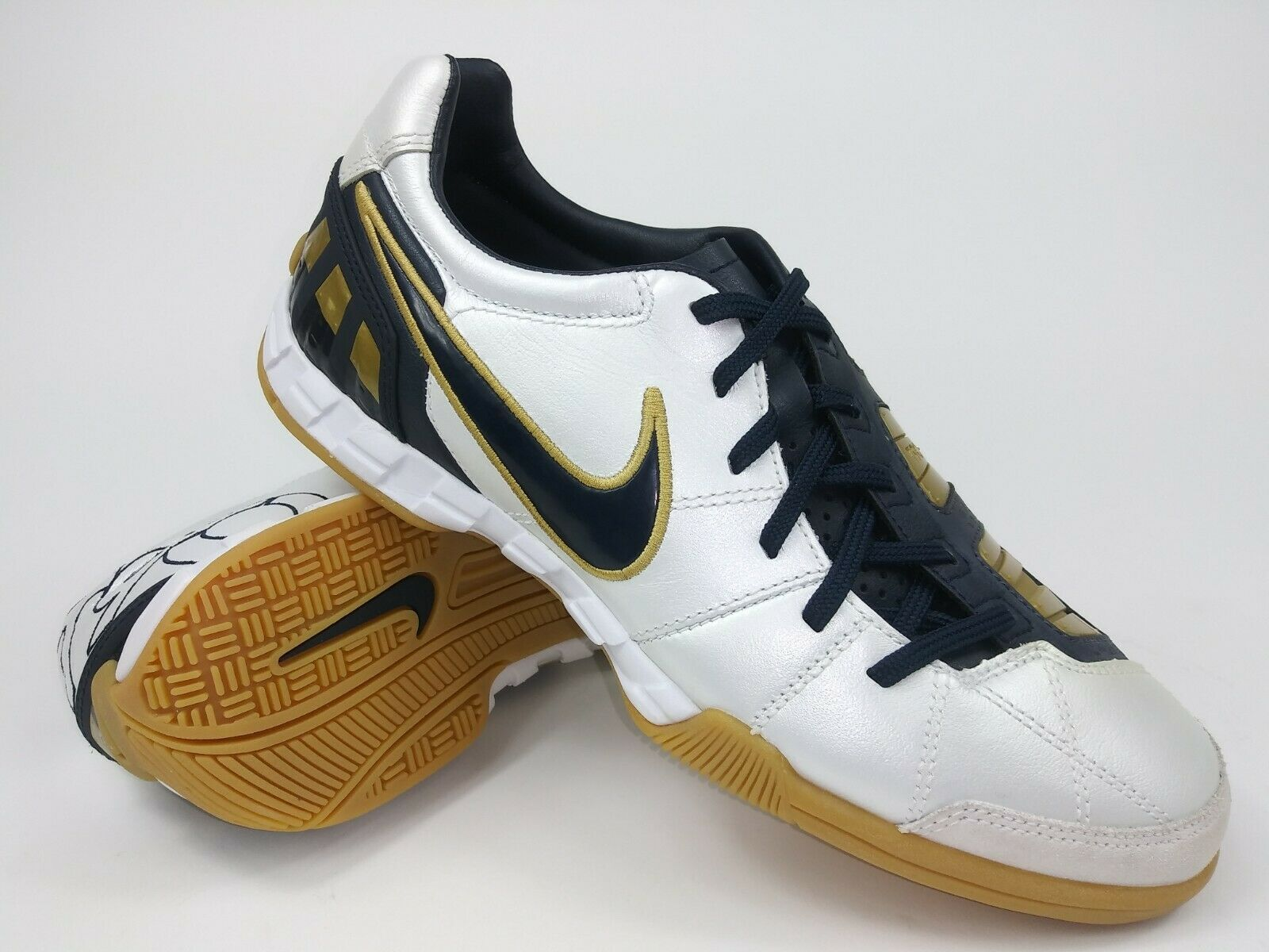Nike Hombre Raro total 90 Shoot Iii L-IC Calzado de Fútbol Indoor 385437-147 blancoooo