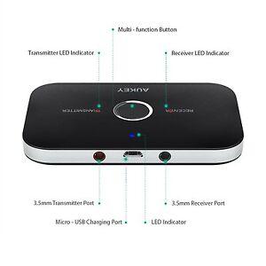 Aukey BR-C11 2in1 Bluetooth Wireless Musik Audio Empfänger & Sender Transmitter