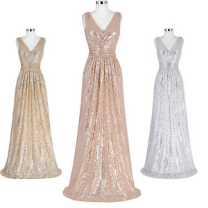Charm-Sequin-Long-Bridesmaid-Evening-Formal-Party-Cocktail-Gown-Prom-Maxi-Dress