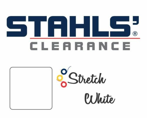 """Stahls/' Stretch Heat Transfer Vinyl HTV 15/"""" x 5 Yards White"""