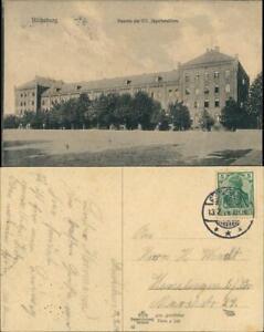 Ansichtskarte Bückeburg Kaserne des VII Jägerbataillons 1914