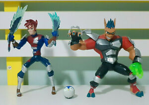 Lot-of-2x-Aerrow-amp-Junko-Storm-Hawks-Figures-Spinmaster-2007-Cartoon-Network