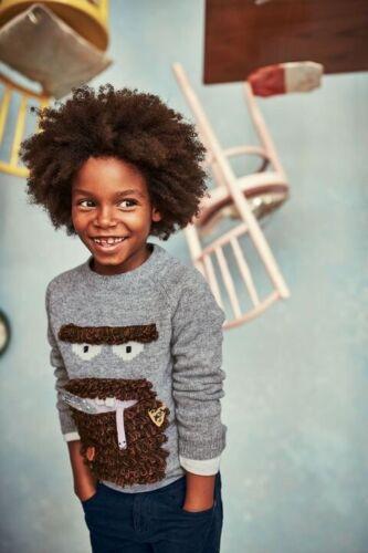 NEW IN Ex Mini Boden Roald Dahl Mr Twit Applique Sweater BNWT 2-6Yrs
