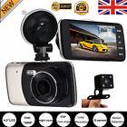4'' IPS HD 1080P Car Dual Lens Camera DVR Video Recorder Rear Dash Cam G-sensor