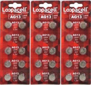 100 LR44 AG13 357 357A A76 303 L1154 1.5 Volt Alkaline Batteries USA Shipper