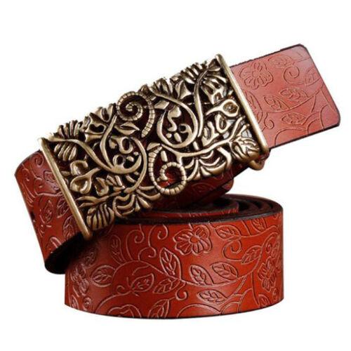 Retro Pattern Nostalgic womens Belts really Leather belt belt for jeans All Size