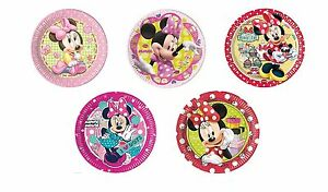 8-MINNIE-MOUSE-PAPER-PLATES-23cm-Range-of-Designs-Birthday-Party-Tableware