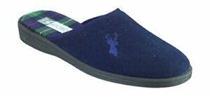 Mens-Buck-Mule-Slipper-Comfort-Cushioned-Foot-Bed