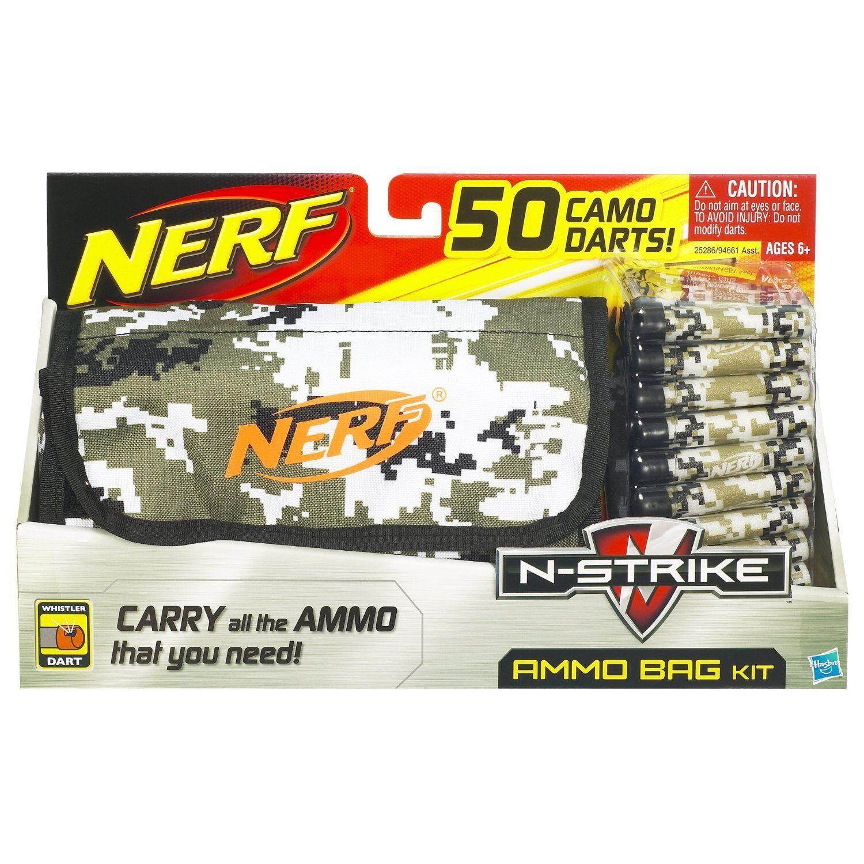 Helt ny NERF N -Strike AMMO BAG KIT 50 Camo WHISTLER DkonstS Sällsynt