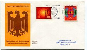 1974 Ersttagsbrief Fdc Wertzeichen Sonderrstempel Deutschen Bundespost Space