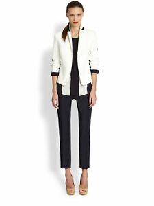 Details about Akris Punto Two tone Techno Cotton Jacket Sz 4 White Navy