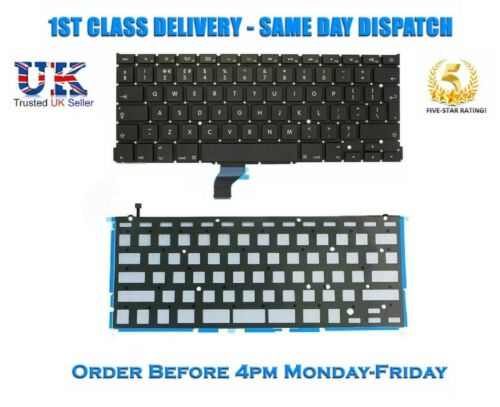 "Replacement Apple Macbook Pro Retina 13/"" A1502 Laptop UK Keyboard With Backlight"
