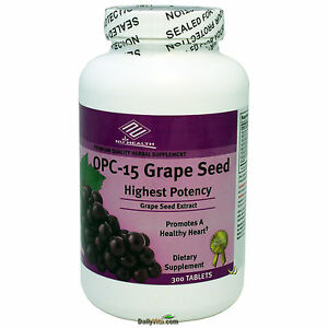 OPC-15-Grape-Seed-Extract-100-mg-300-Tabs-Anti-oxident-Made-In-USA-FREE-SHIP