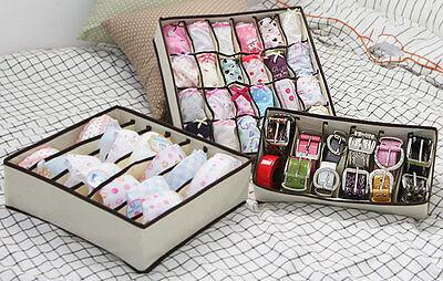 Organizer Underwear Socks Belt Closet Divider Box Storage 24cell,7Cell,6cell