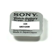 SONY 1 Batteria A Bottone 335 - SR512SW - 1,55 volt
