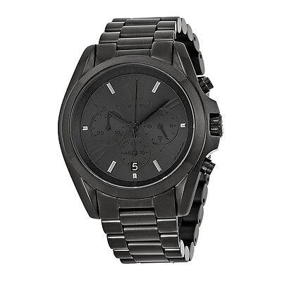 Michael Kors Bradshaw Chronograph Black Dial Black Ion-plated Mens Watch MK5550
