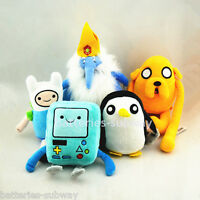 Set 5 pcs Adventure Time with Finn and Jake Beemo Gunter stuffed plush toy doll