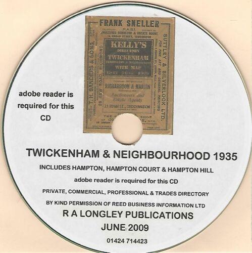 Kelly/'s Directory Twickenham and Neighbourhood 1935