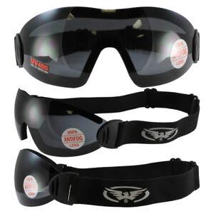 Acheter Pas Cher 2 Goggles Motorcycle Riding Skydive Googles Clear & Smoke & 2 Storages Pouches. Nettoyage De La Cavité Buccale.