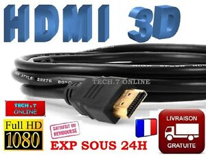 Cable-HDMI-1-4-3D-HIGH-SPEED-FULL-HD-1080p-Longueurs-50cm-a-5M-PS4-XBOX-PS3