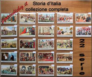 Collezione-Liebig-Storia-d-039-Italia-22-serie-figurine-ITA-Chromo-Lotto-Stock