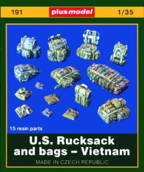 Plus Model 191 - 1:35 Resin Bausatz U.S. Rucksäcke und Taschen - Vietnam