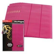 10 loose BCW 18 Pocket Side Loading Pages MTG Gaming Card Holder PINK