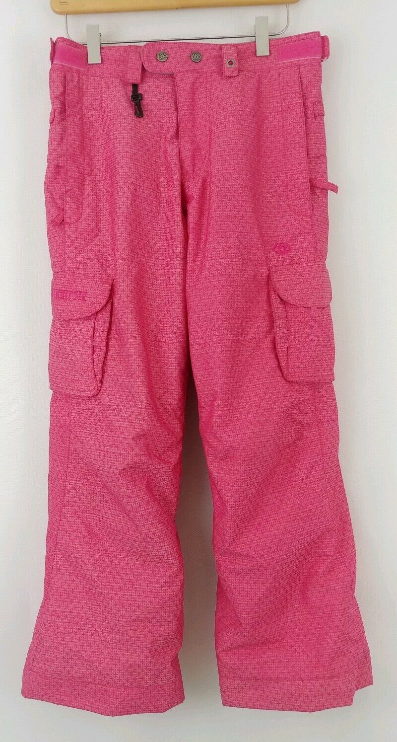 686 Smarty L Snow Board Pants Youth Girls Pink Free Ship