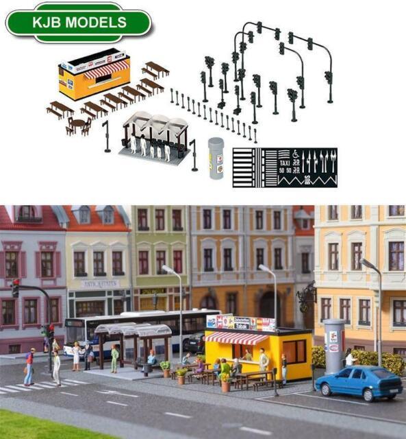 OVP OO HO Spur Kibri 38102 Stadtmobiliar, Ampel, Bushaltestelle etc-Kit