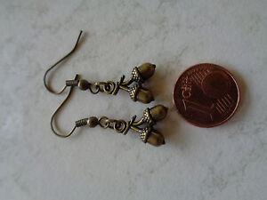 Ohrhänger im Bronzelook mit Eichel - Rorodt, Deutschland - Ohrhänger im Bronzelook mit Eichel - Rorodt, Deutschland