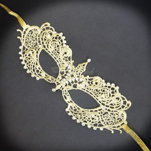 Gold Lace Masquerade Mask Silver RHINESTONES LACE Mask for Women LM0601
