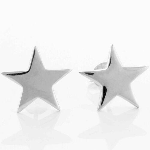 Ohrstecker Ohrringe Sterne Star Schlicht 10-12mm 925 Silber Damen Mädchen Kinder