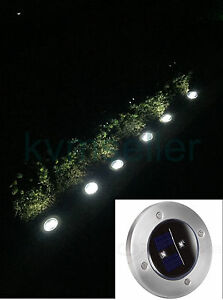 solar powered ground marker bright 2 led stainless steel pathway light. Black Bedroom Furniture Sets. Home Design Ideas