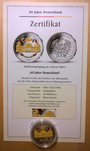 Silber-Gedenkmünze 60 Jahre Deutschland