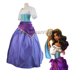 The hunchback of notre dame esmeralda cosplay dress ball gown image is loading the hunchback of notre dame esmeralda cosplay dress solutioingenieria Choice Image
